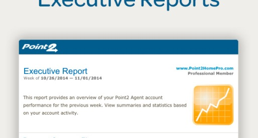 Point2 Agent Executive Reports: New and Improved!