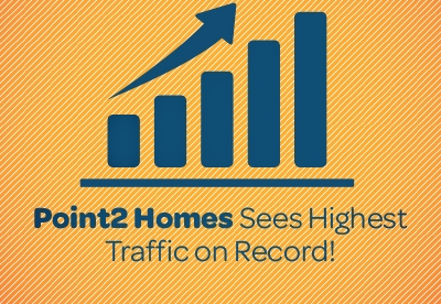 Point2 Homes Sees Highest Traffic EVER in July