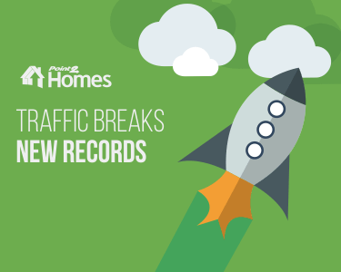 Point2 Homes Traffic Scores New Record Values. Leads Are Up by 70%
