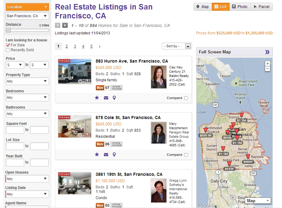 Listings Views