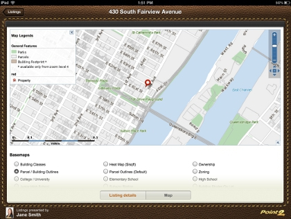 iPad App Listing Map View