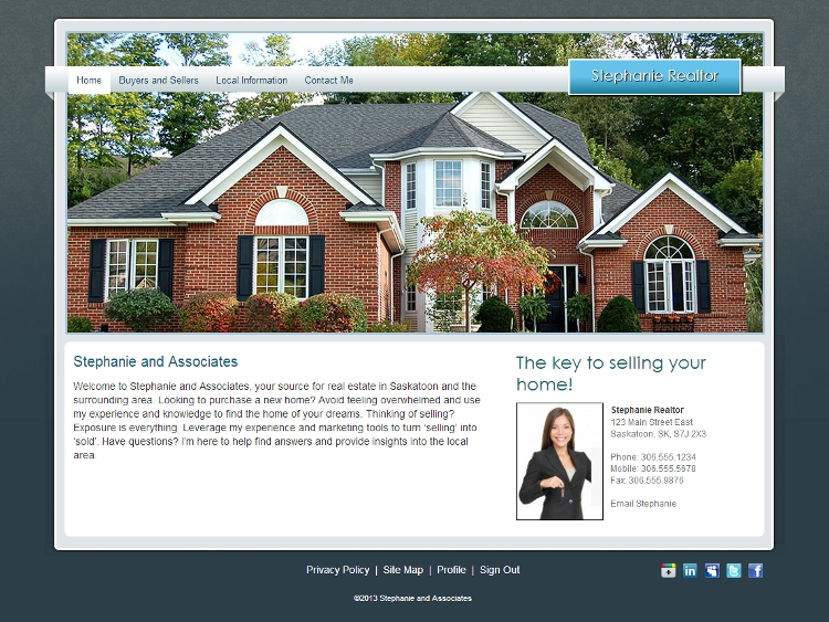 Real Estate Agent Website Templates - Sovereign