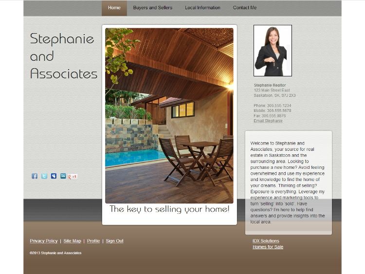 Realtor Website Design - Whitney
