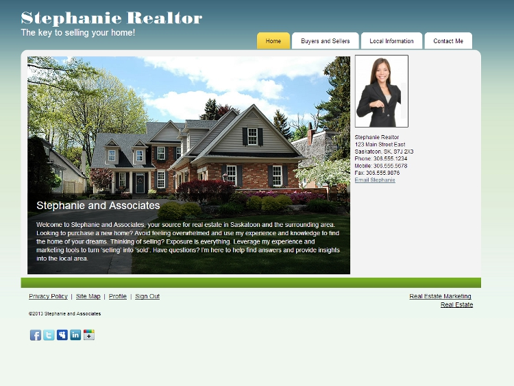 Real Estate Web Design - Genial