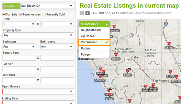 Map Searching Tools - Point2 Homes Help Manual on home map design, home new construction, home employment search, home map plan, home finder by map, home plan search,