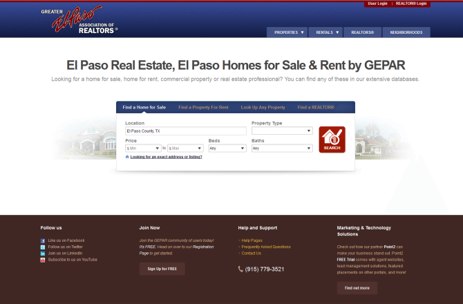 The First Point2 Consumer-Facing Website for REALTORS® Associations Is Live
