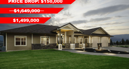 Price Cuts: Okanagan BC Lakeview Home Drops Price by $150,000