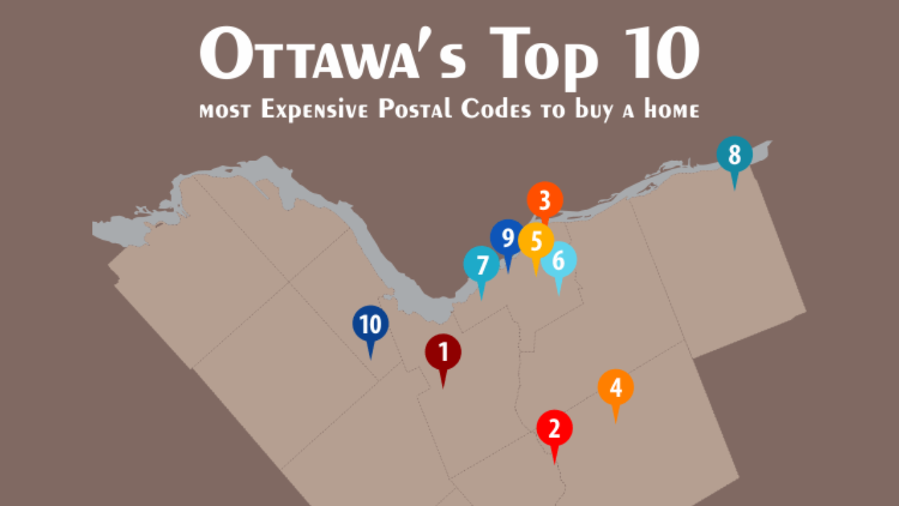 Top 10 Most Expensive Postal Codes In Ottawa Point2 News