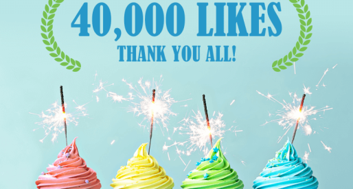 We Thank All Our Followers for Their 40K Facebook Likes!