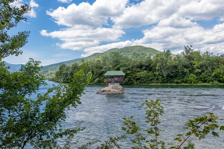 Drina River House View