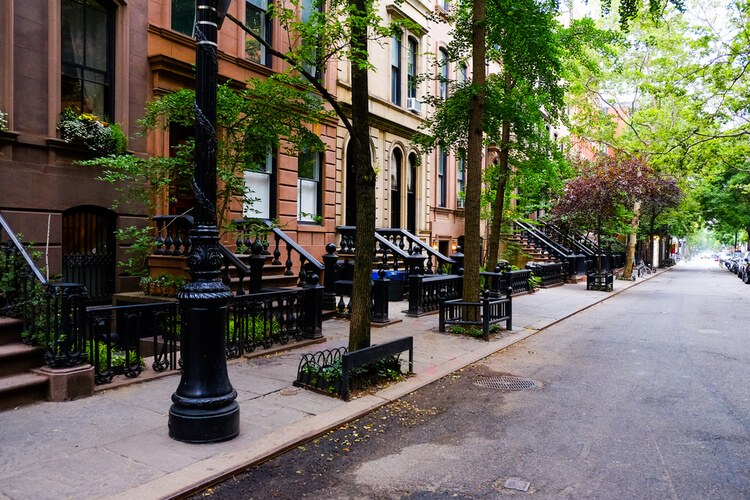 Beautiful New York Street with Apartments for Rent