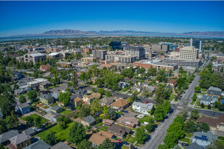 Provo Aerial View Hot US Real Estate Market