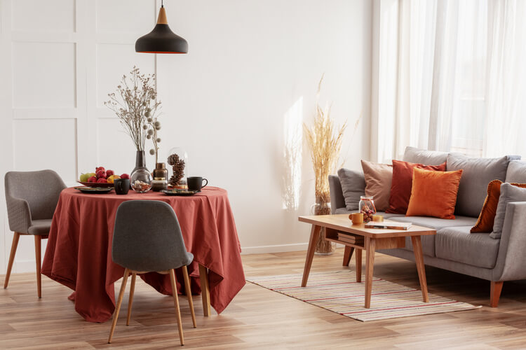 romantic setting dining room table