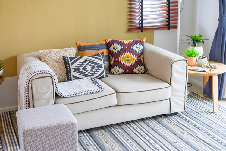 small sofa in small living room
