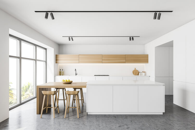 bare space above kitchen cabinets