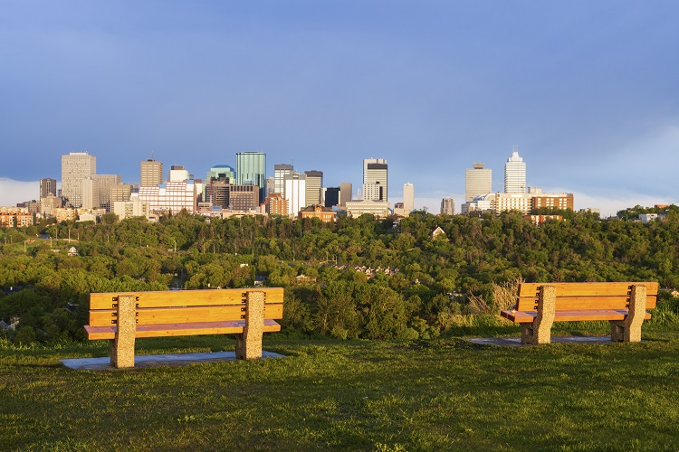 View of Edmonton skyline