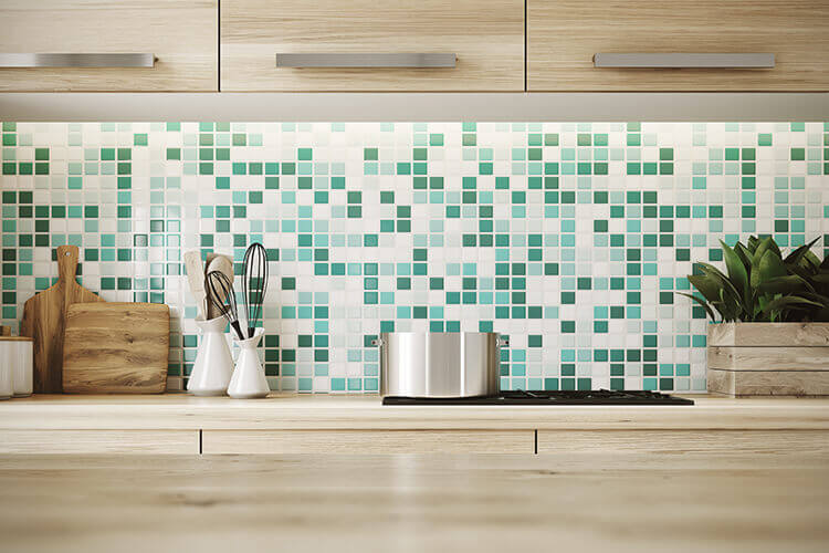 patterened tile in kitchen