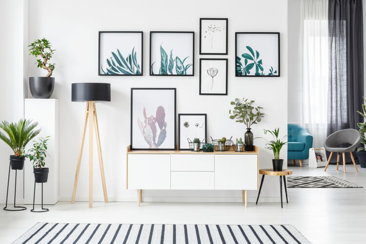 Staying Creative While at Home DIY Decor Ideas Botanical Wall Art